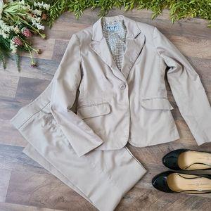 NYP Suits • 2 Piece Beige Suit Set